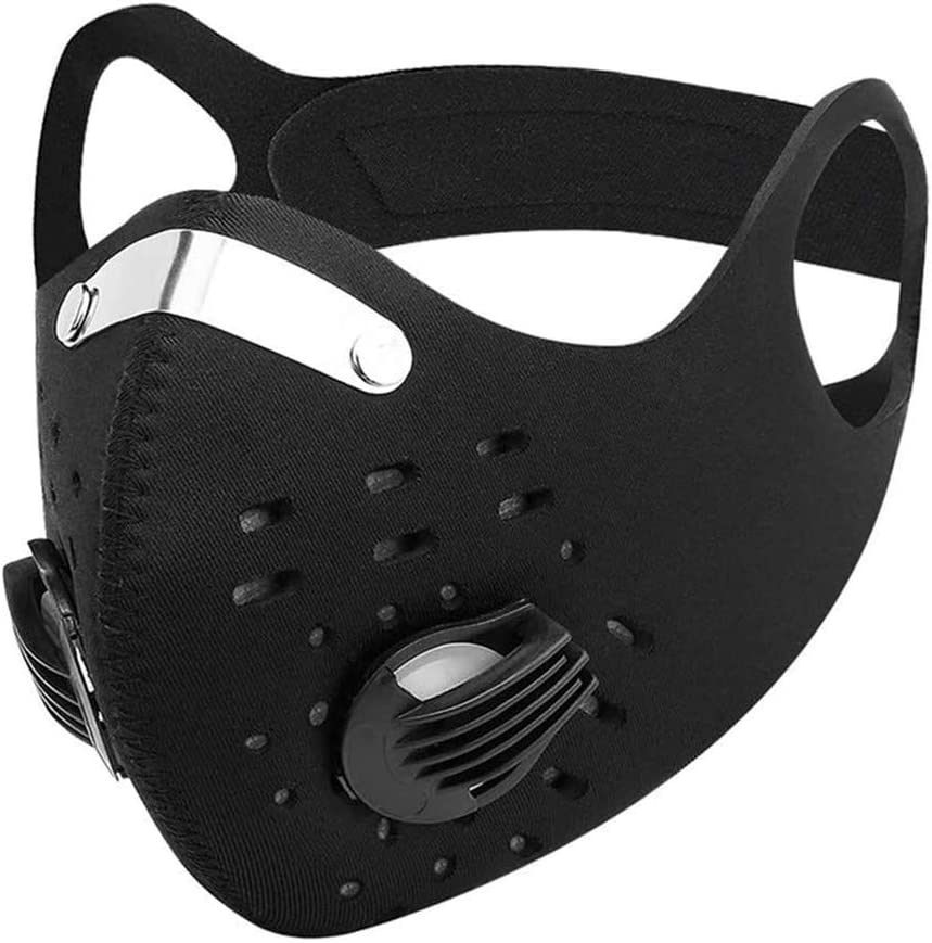 Dust Mask, Washable Reusable Anti Air Pollution Half Face Mouth Mask Adjustable PM2.5 Air Filter Mask Respirator (Black)