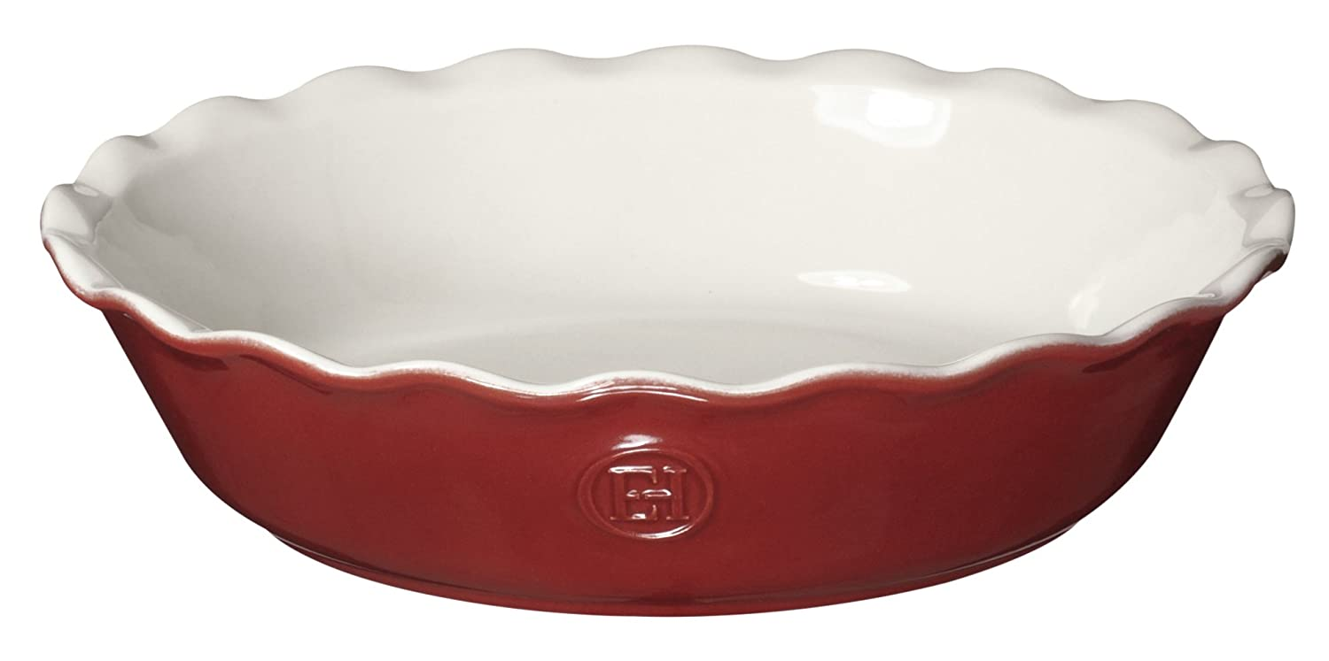 "Emile Henry Made In France HR Modern Classics Pie Dish, 9"", Red"