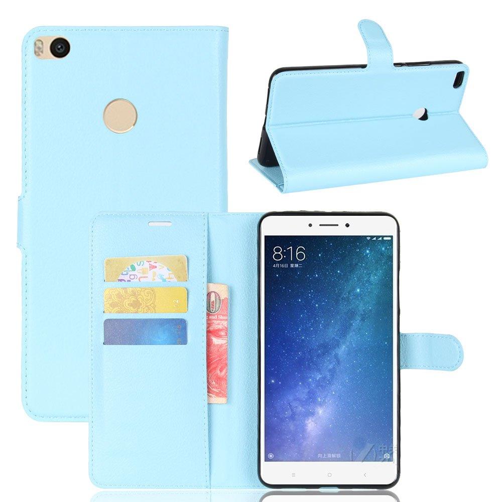 Nadakin Xiaomi Mi Max 2 Calidad Premium Cartera de Cuero con Carcasa de Telé fono Flip Funda con Soporte Magnetico de Cierre para Xiaomi Mi Max 2(rojo)