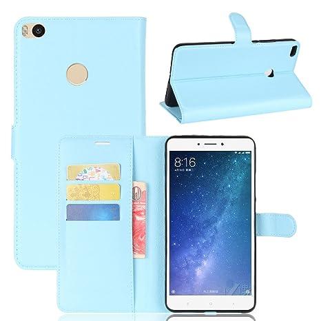 Para XiaoMi Mi Max 2 (6.44 pulgadas) Cáscara ZeWoo® Carcasa y Funda de PU Piel - JF021 azul