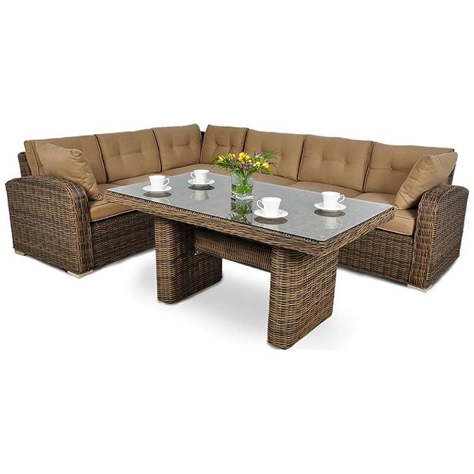 JUSThome Malibu Conjunto de muebles de jardín 1x Sofá-banco ...