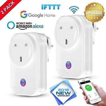 10A Smart Steckdose WIFI WLAN für Amazon Alexa Fernbedienung Home Socket NEU