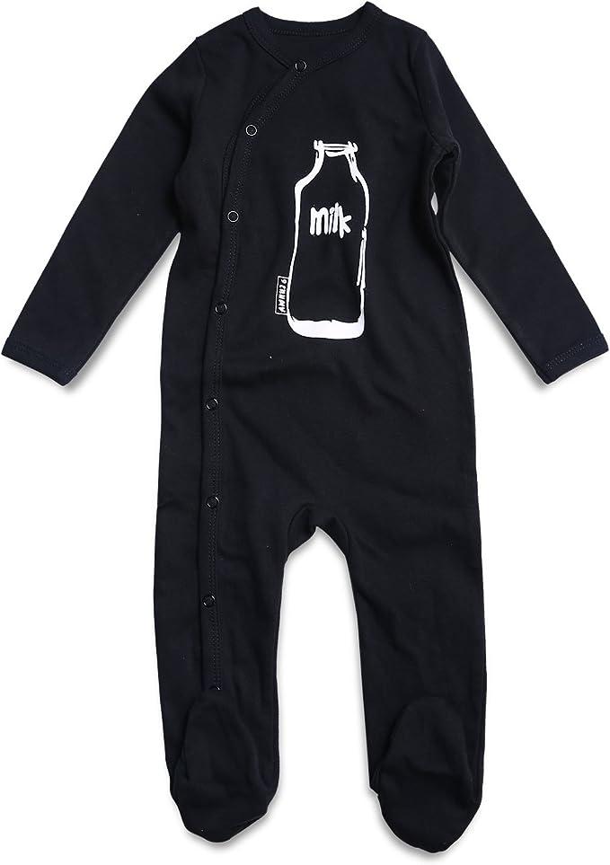0-4T kavkas Unisex Baby Boy Long Sleeve Pajamas Infant Footed Sleeper Striped 100/% Cotton