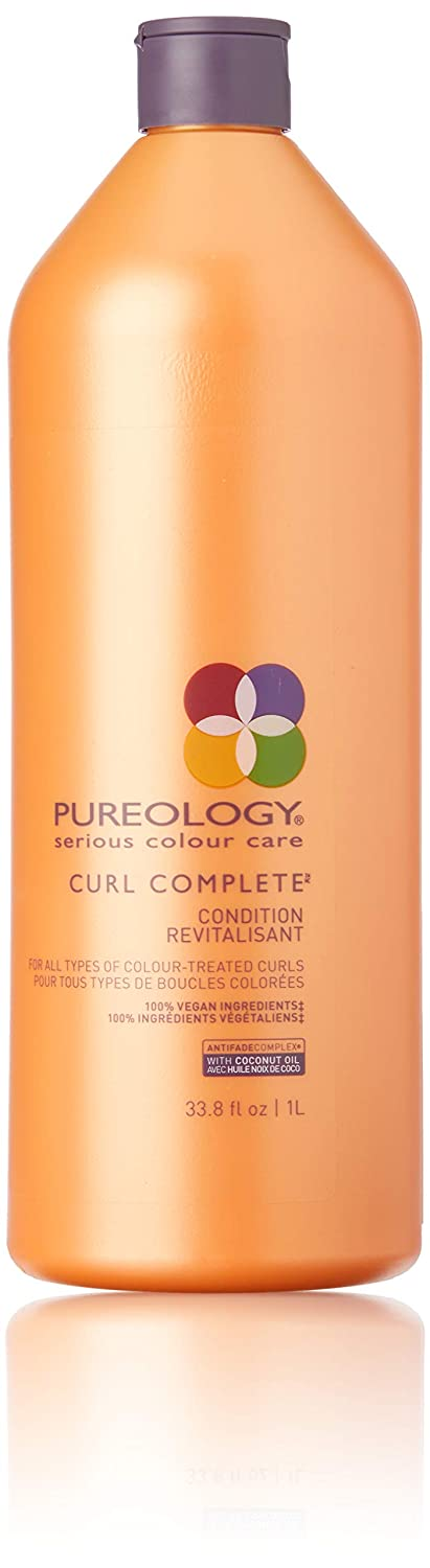 Pureology , Curl Complete Moisturizing Conditioner , Frizz Control & Shape Memory , Sulfate-Free , Vegan