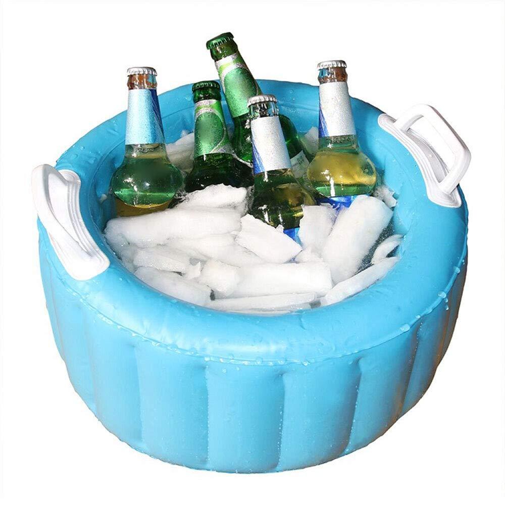 XUELIEE - Cubo Inflable para Enfriar Cerveza, Piscina, Flotador para Fiestas de Agua, cubeta de Hielo