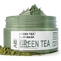 ANAIRUI Green Tea Facial Mud Mask for all Skin types- Deep Pore Cleansing & Blackhead Remover Mud Mask, Pore Minimizer…