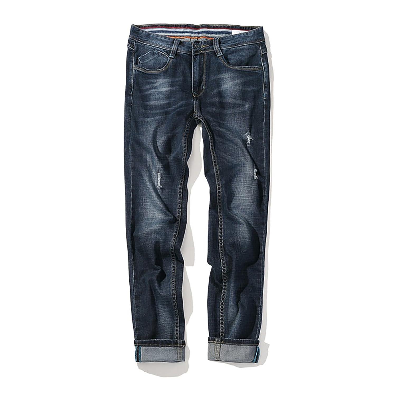 SITENG Men Fashion Jean 34 36 38 40 42 44 46 Washed Denim Pants Jeans for men