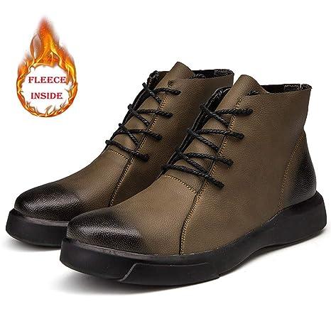 Shufang-shoes Botines Casuales, con Estilo y cómodos, con Punta Redonda, Forro