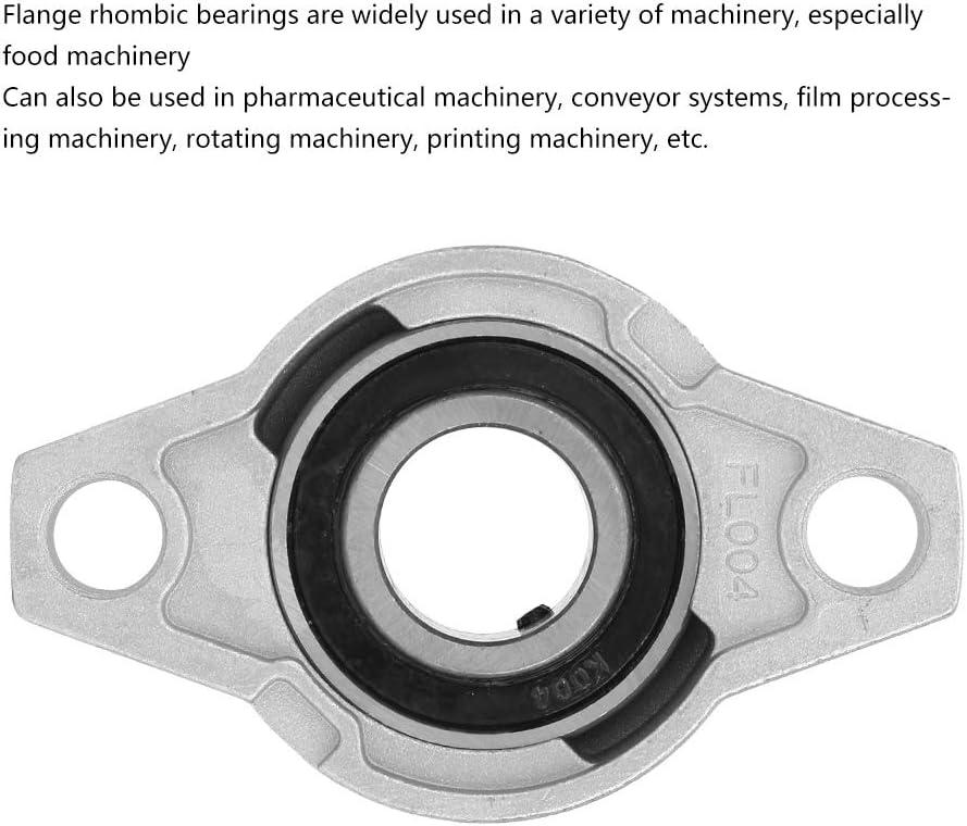 Aluminum Alloy Mounted Bearing Bearing Miniature Zinc Flange Rhombic Bearing Mounted Bearing for pharmaceutical machinery