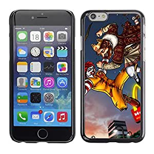 Caucho caso de Shell duro de la cubierta de accesorios de protección BY RAYDREAMMM - Apple iPhone 6 - King Fast Food Fighting Golden Arc