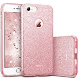 ESR iPhone 7 Case,Glitter Sparkle Bling Case [Three Layer] for Girls Women [Shock-Absorption] for 4.7' iPhone 7 (2016 Release)(Pink)