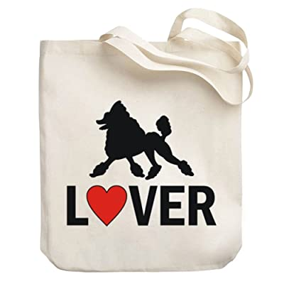 Teeburon Poodle LOVER LOVIN Canvas Tote Bag