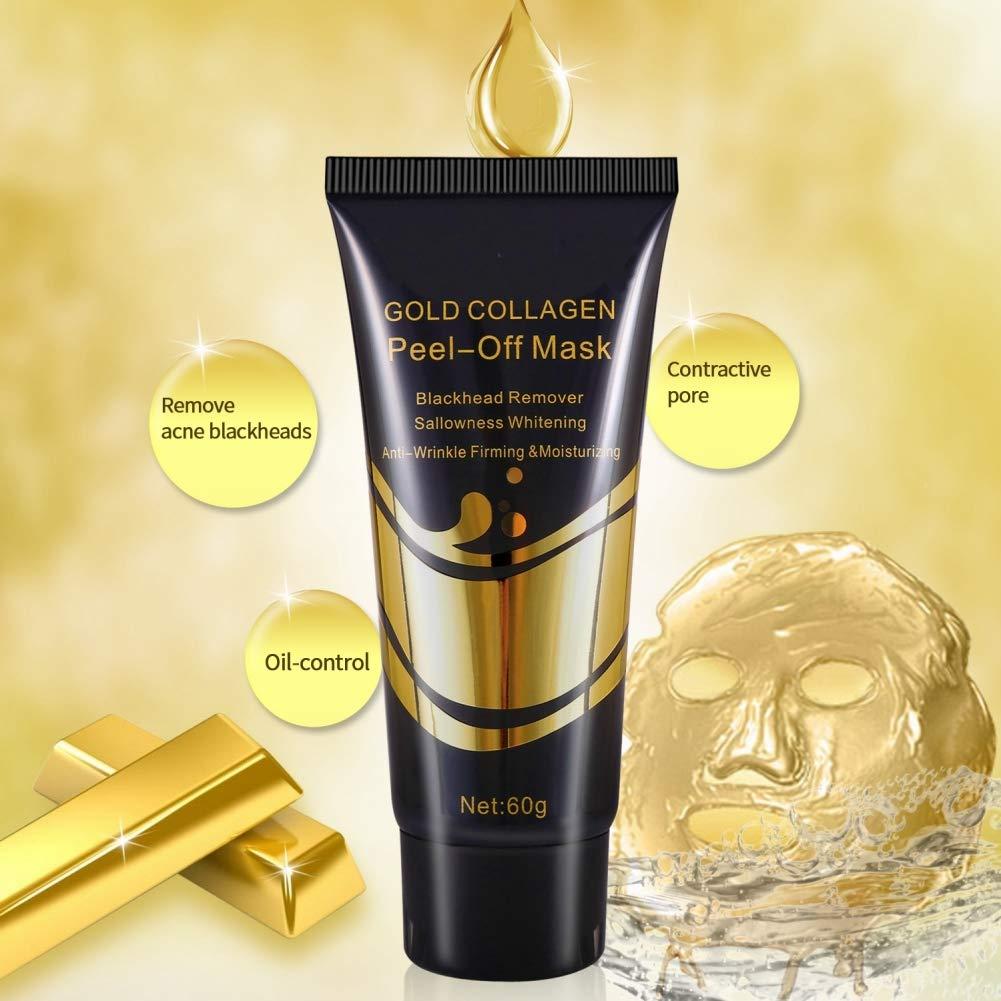 Symeas Gold Collagen Peel off Masque Blanchissant Anti-Rides Visage Masque Soins De La Peau Visage Raffermissant Masque