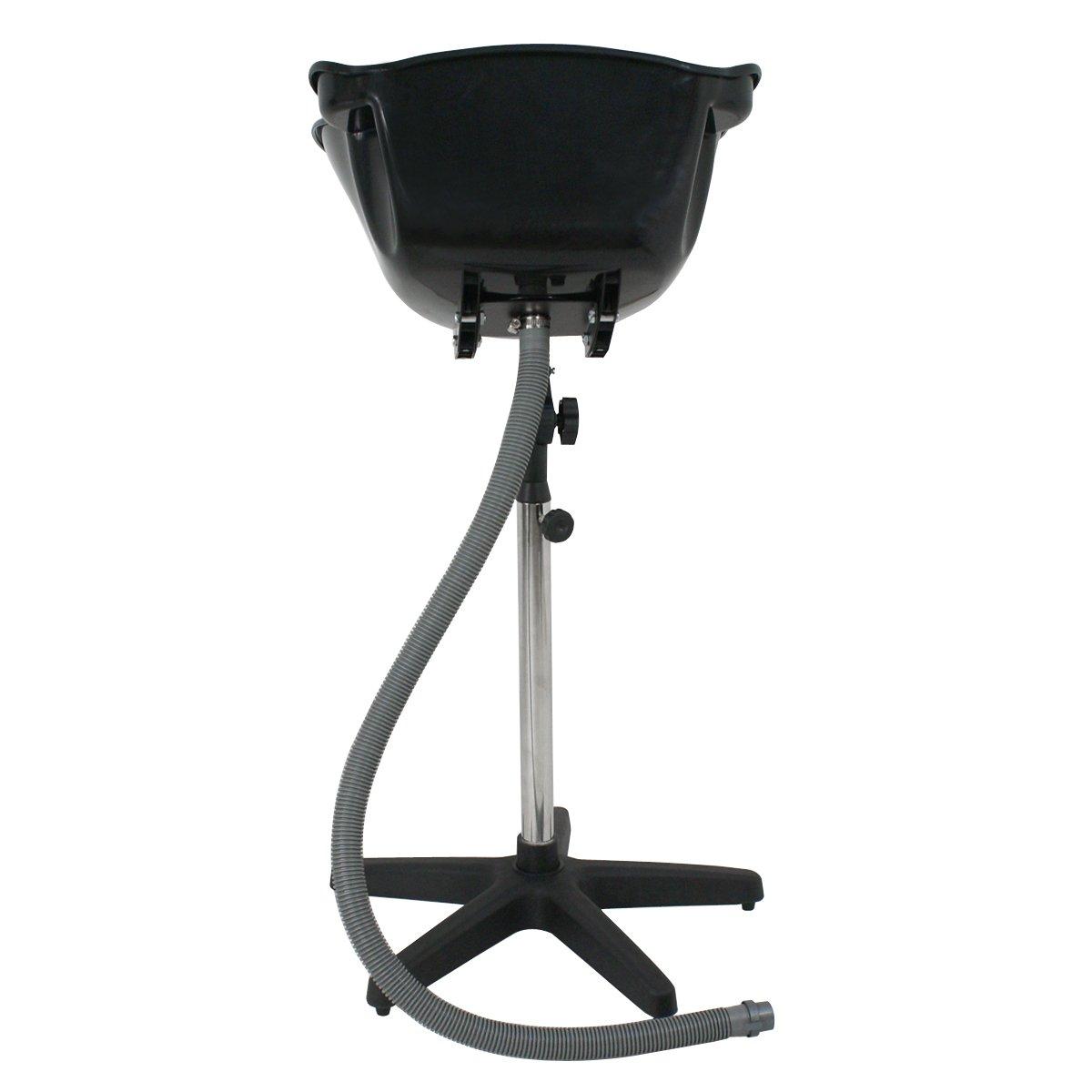 HomGarden Adjustable Height Portable Salon Deep Basin Shampoo Sink with Drain, Hair Treatment Barber Bowl Tool Beauty Salon Equipment
