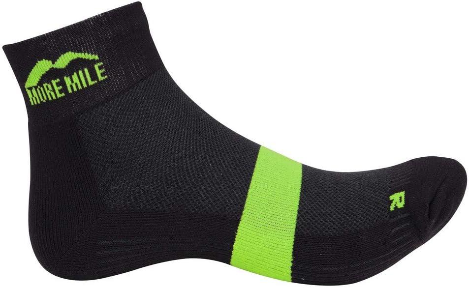 More Mile Preventer Twin Skin Anti-Blister Running Socks Black//Green