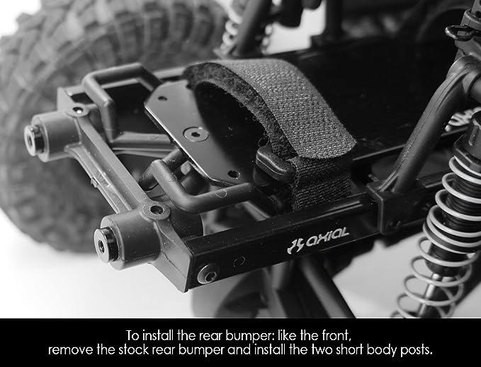 Yeah Racing Axial SCX10 Aluminum Front /& Rear Bumper Set W// LEDS/'s YA-0431