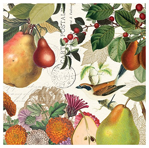 Michel Design Works 20-Count 3-Ply Paper Cocktail Napkins, Golden - Big Pears Three