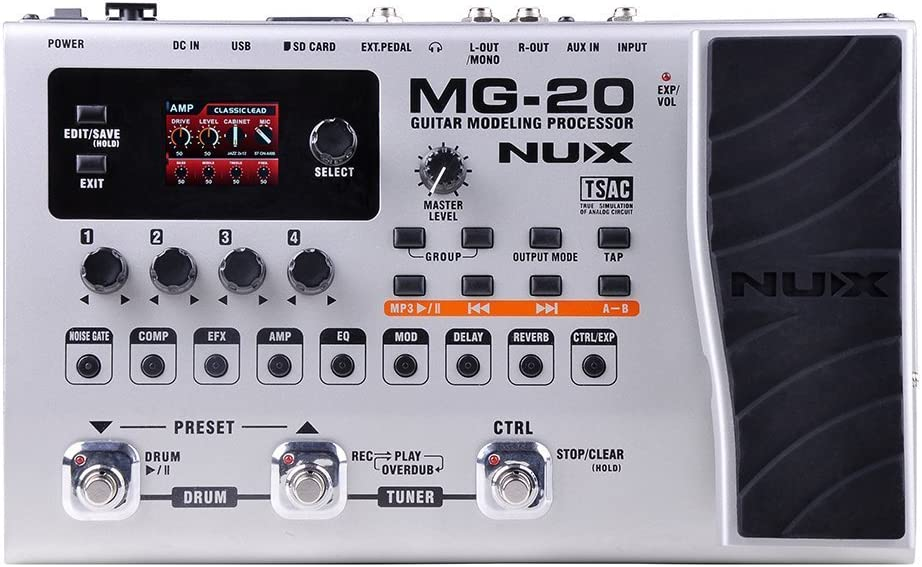 NUX MG-20 ELECTRIC GUITAR MULTI EFFECTS PROCESSOR