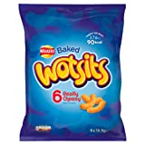 Walkers Baked Wotsits 6 Really Cheesy Flavour Corn Puffs, 6 x 16.5g