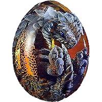 Bticx Ovo de dragão de dinossauro, escultura de resina de ovo de dragão de lava realista, presente de lembrança para…