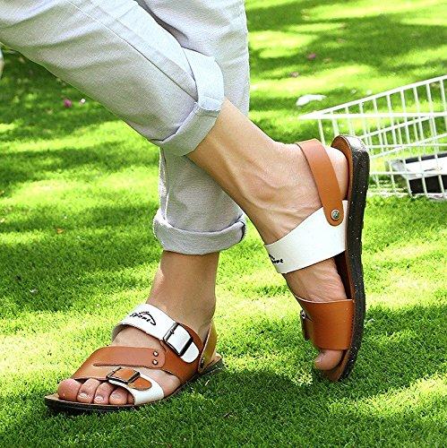 Das neue Sandalen Männer Schuh Sommer Männer Sandalen Tragbar Strand Schuh Männer Atmungsaktiv Freizeit Schuh ,braun ,US=10,UK=9.5,EU=44,CN=46
