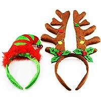 EVINIS (Pack de 2) Cornamentas de Reno Elf
