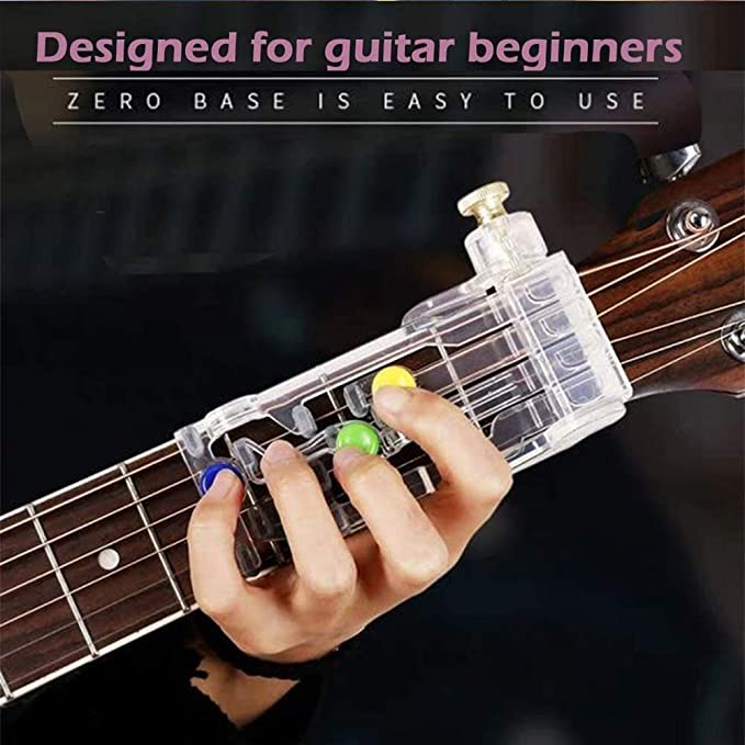 Guitar Beginner One-Key Chord Assisted Learning Tools Classical Chord Guitar Practice System for Adults /& Children Trainer Beginners