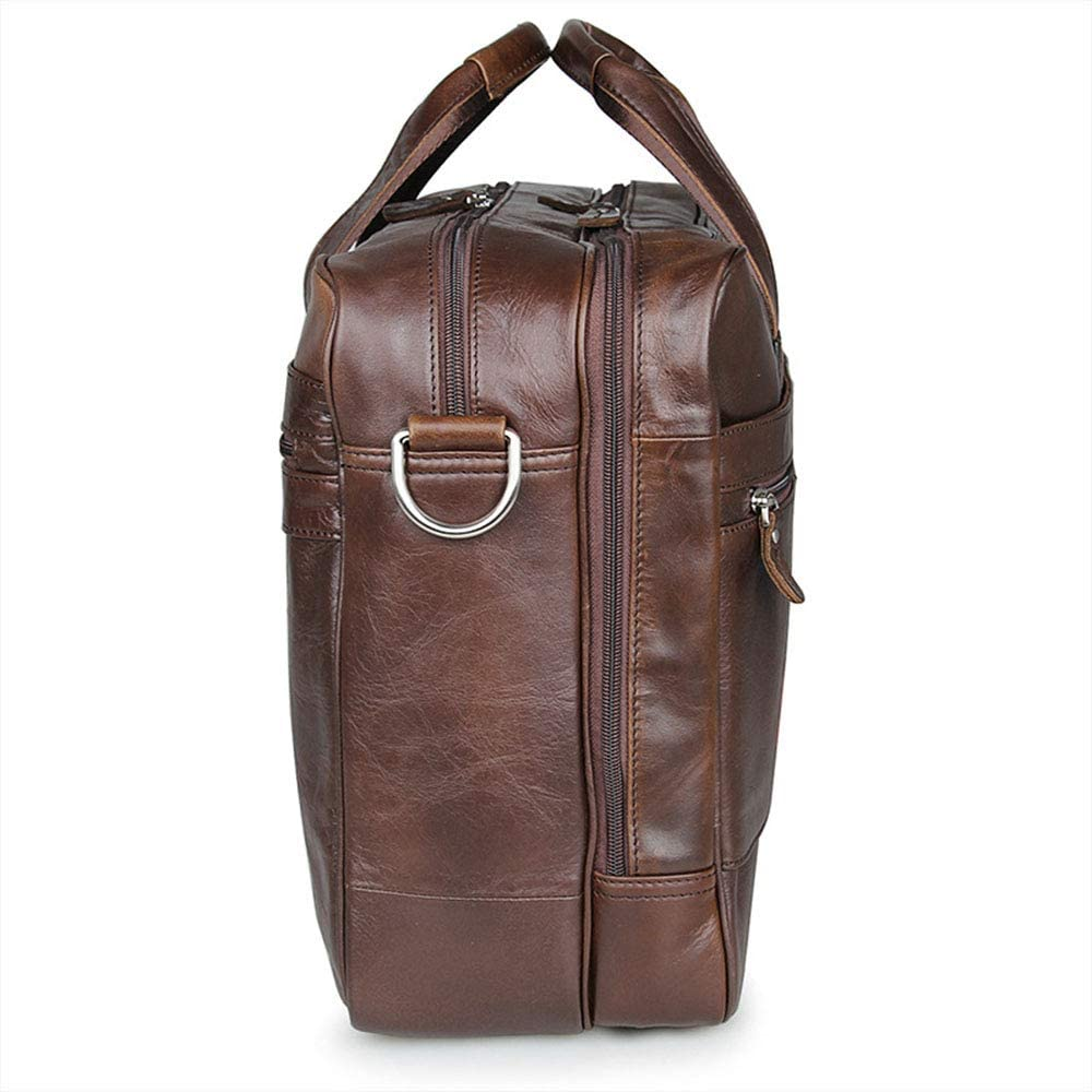 Mens Messenger Bag Mens Leather Travel Carry On Bags Holdal Travel Tote Water Waterproof Messenger Bag Laptop Rucksack for 17 Notebook//Computer Laptop Bag Briefcase Satchel Bag