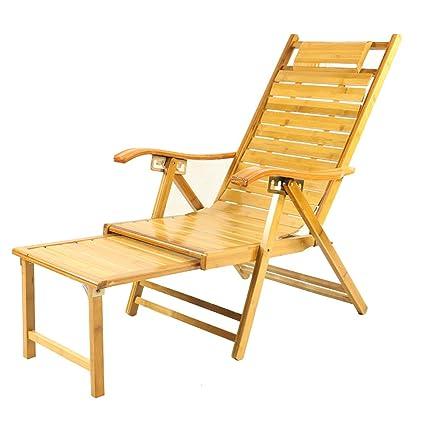 Amazon.com: L & J Chaise Lounges, bambú almuerzo sillas ...