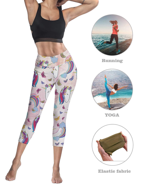 LEO BON Capri Tights Running Workout Leggings Cropped Pants Body Slimming Pants