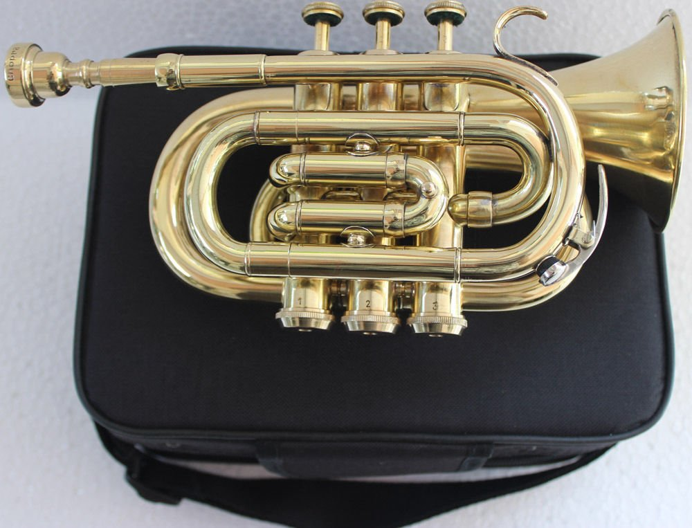 SC EXPORTS Pocket Trumpet with Carrying Case by SCEXPORTS (Image #2)