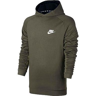 Sudadera capucha Nike – Sportswear Advance 15 verde/blanco talla: S (Small)
