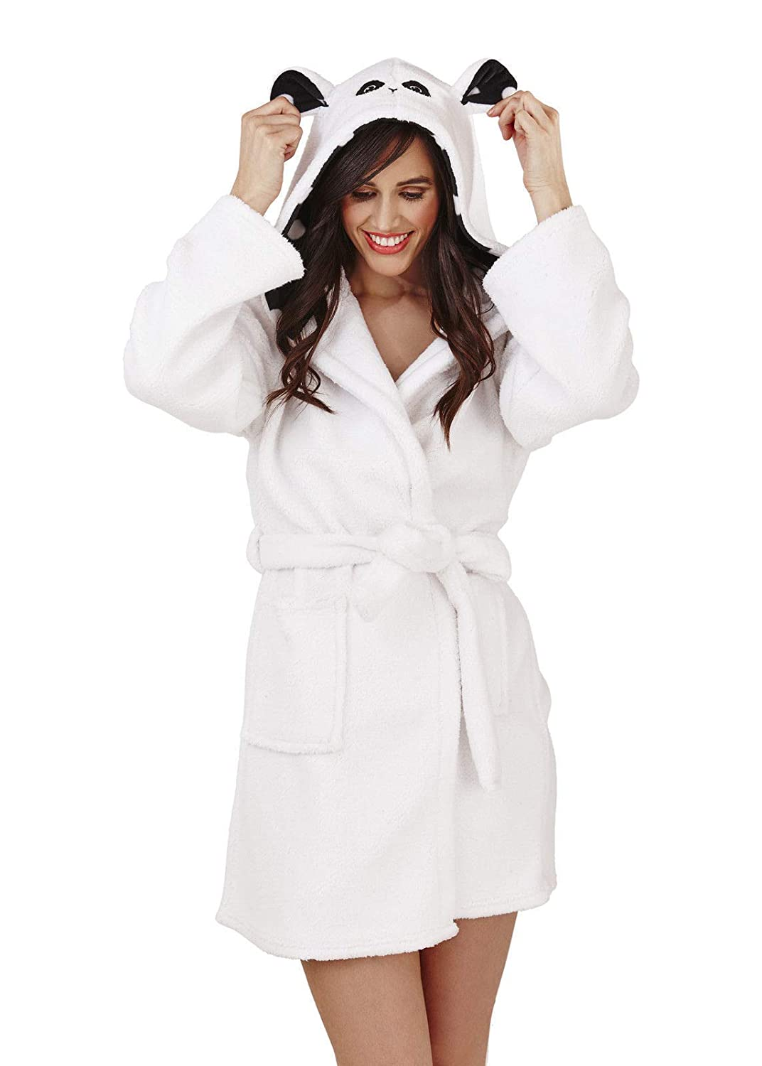 Loungeable, Ladies Luxury Hooded Novelty Fun Gift 3D Animal Robe 04731