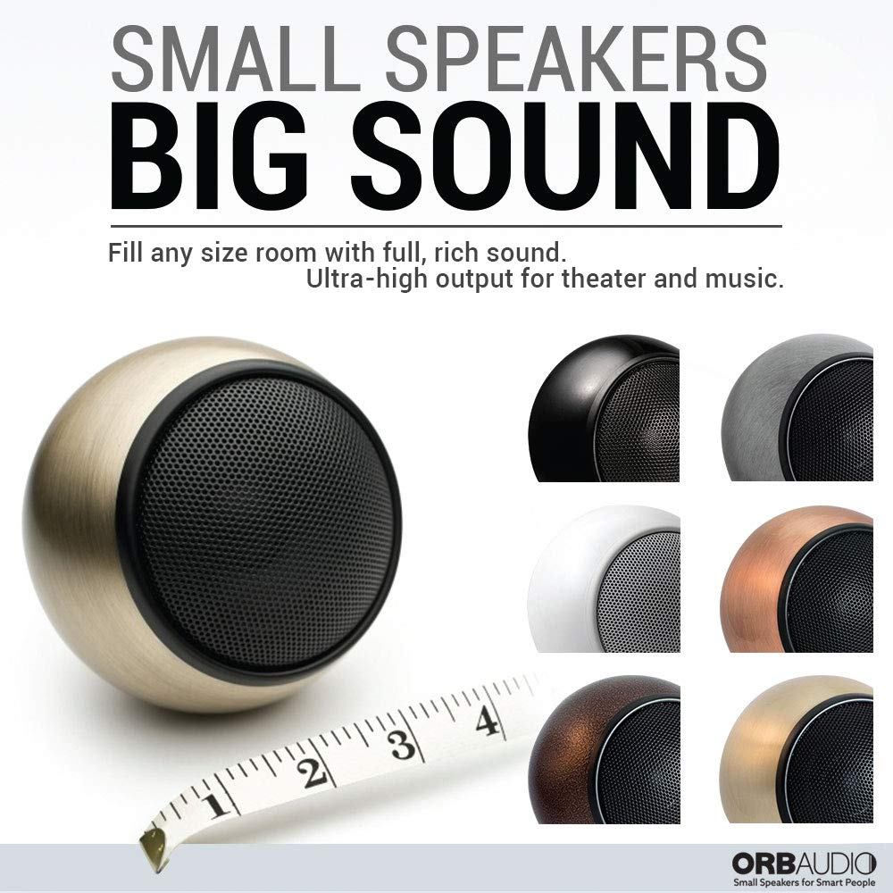 Orb Audio: Mod1 Mini 5.1 Home Theater Speaker System - Surround Sound System - Includes 5 Orbs and 9'' Subwoofer - Great for Movies & Music, Outperforming Larger Subwoofers - Handmade in The US by Orb Audio (Image #2)