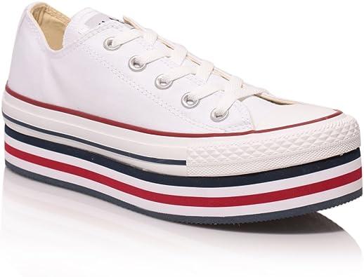 Converse , All Star - Plateforme Femme - Blanc - Blanc, 38.5 ...