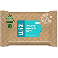 Wiz pH Balanced Paraben Free Biodegradable Eco Friendly Alcohol Free Make Up Remover Wet Wipes - (Pack of 3 + 1 Free)