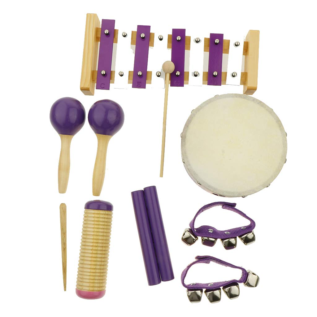 Flameer 11pcs Musical Instruments Toy Set for Toddler, Preschool and Children, 8 Kinds