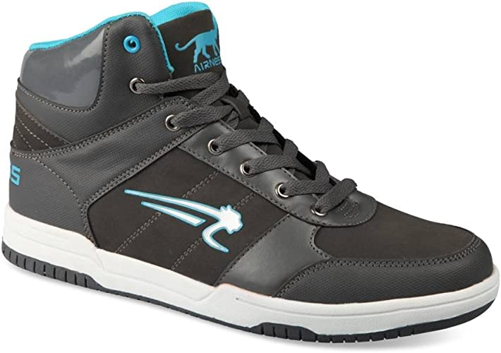 Airness Baskets Gris Homme Chaussea: : Chaussures