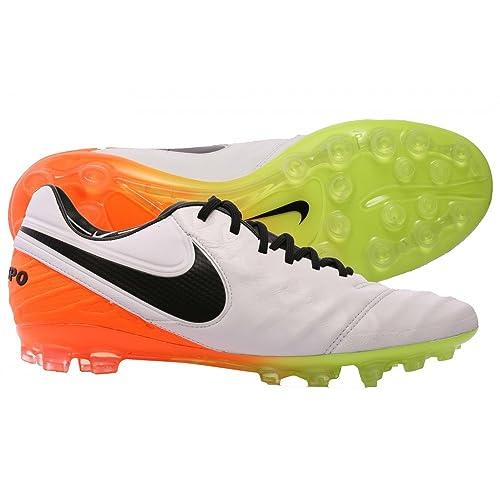 448f8f872 Nike Men's Tiempo Legend VI AG-R Football Boots, White (White/Black-Total  Orange-Volt), 6.5: Amazon.co.uk: Shoes & Bags