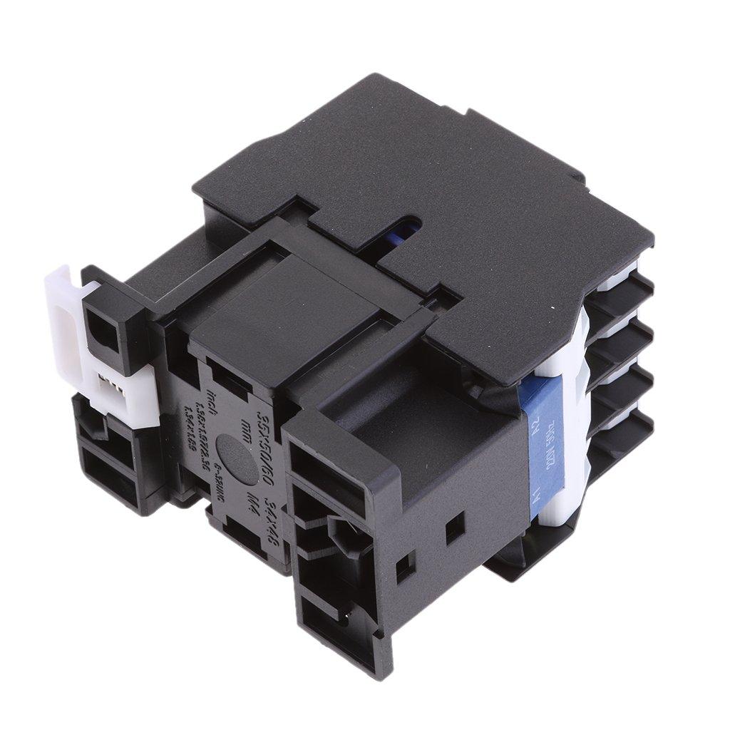 MagiDeal CJX2-1210 660V 3 Phase 3P NO AC Contacteur DIN Rail Montage AC 220V Bobine