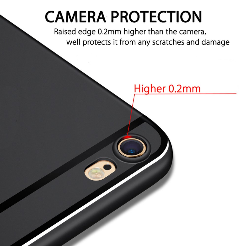 Ultra Slim Premium Flexible TPU Back Plate Full Protective Anti-Scratch Cover Case for iPhone 6 Plus//6s Plus Pomufa New Version P531 iPhone 6s Plus Case iPhone 6 Plus Case Black