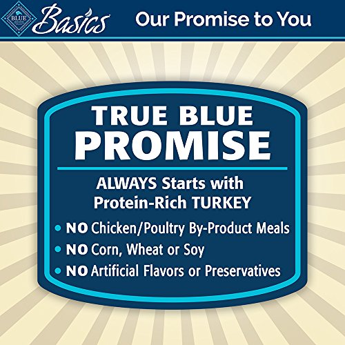 BLUE Basics Limited Ingredient Diet Adult Grain Free Turkey & Potato Wet Dog Food 12.5-oz (Pack of 12) by BLUE Basics (Image #7)