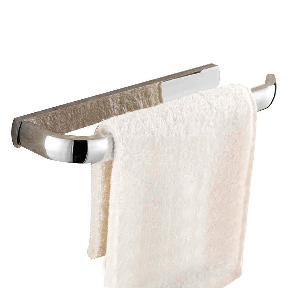 Leyden TM Creative Wall Mounted Bathroom Towel Ring Towel Holder Brass Towel Hanger Rack, Chrome Finish
