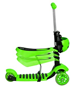 ISO TRADE Scooter Patinete para Niños Tres Ruedas LED 3in 1 Rosa Azul Verde 3479, Farbe / Color:Grün / Green