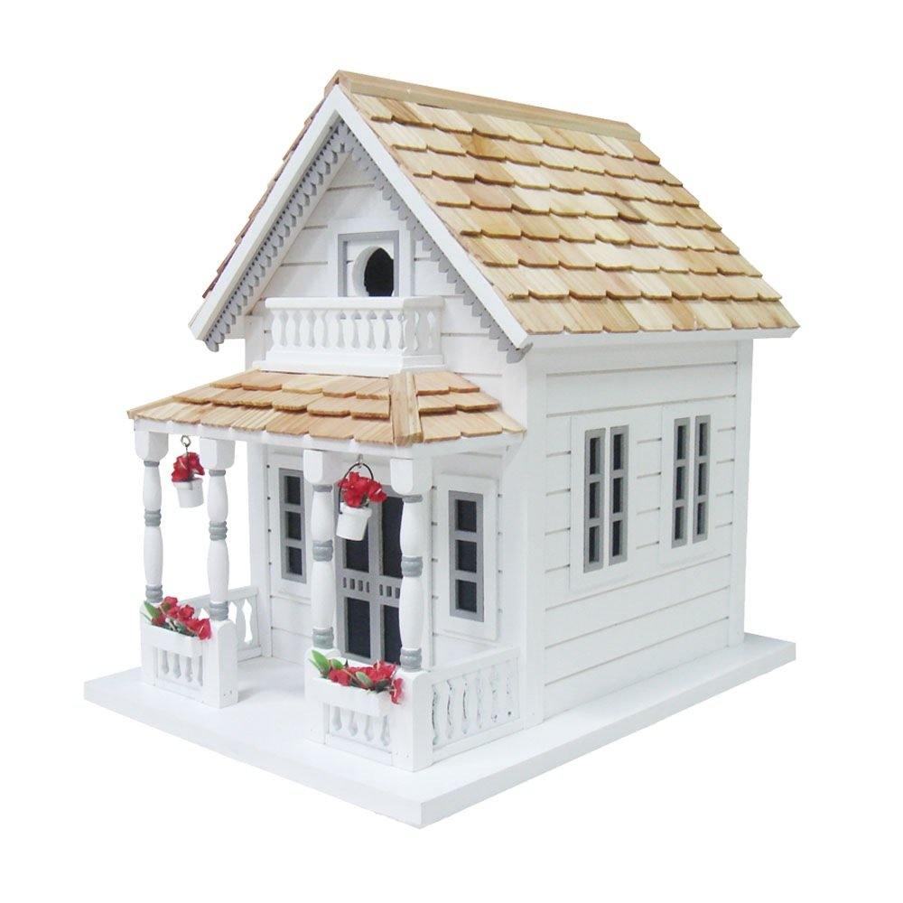 Home Bazaar Newburyport Cottage Birdhouse, White by Home Bazaar, Inc.