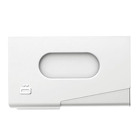 Ögon One Touch dispensador de Aluminio Tarjeta de Visita Plateado Plata