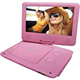 Sylvania 9-Inch Swivel Screen Portable DVD/CD/MP3 Player with 5 Hour Built-In Rechargeable Battery, USB/SD Card Reader…