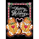 Gingerbread Holiday – STANDARD Size, 28 Inch X 40 Inch, Decorative Double Sided Flag MADE IN USA by Custom Décor Inc.
