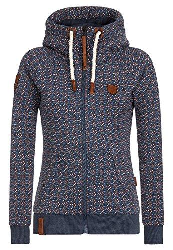 Naketano Warum müssen Jacken? Female Zipped Jacket Crazy Love-Indigo Blue Melange, L