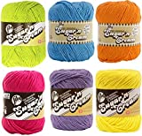 Lily Sugar n' Cream Solid Variety Assortment 6 Pack Bundle 100 Percent Cotton Medium 4 Worsted (Multicolor)